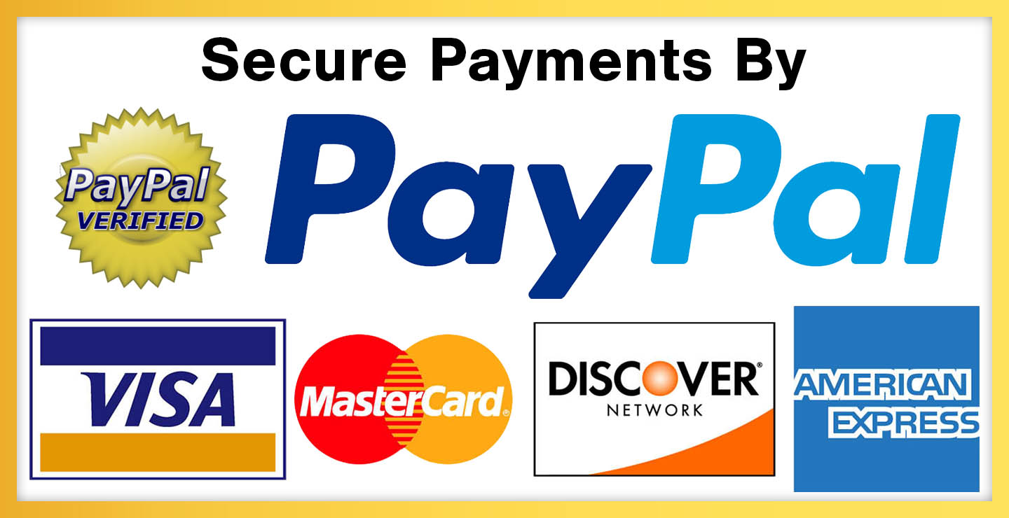 Secure Payments with Visa, Master, Express, Paypal
